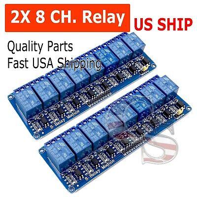 2pcs 8 Channel 5v Relay Shield Module Board For Arduino Raspberry Pi Arm Avr Cn