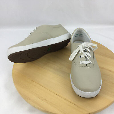 Grasshoppers Ortholite Janey Leather Comfort Sneakers Shoes Womens Size 7W stone