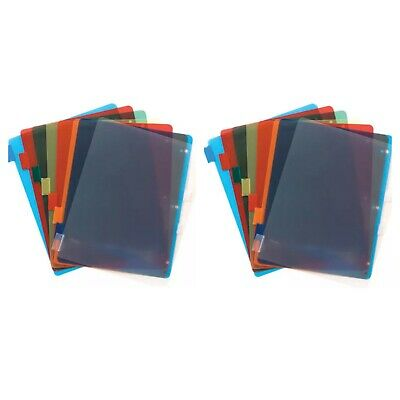 Jot Plastic Standard 3-ring Binder Index Dividers With Tabs Mixed Colors2 Pack