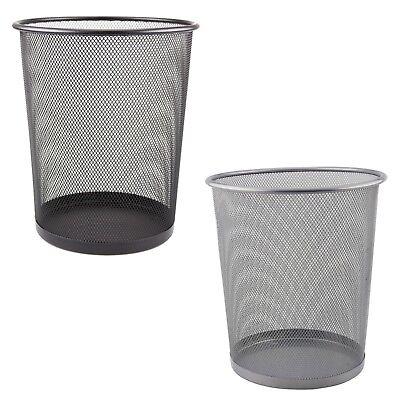 Metall Mülleimer Papierkorb für Büro Schlafzimmer Klein Netz Tisch Abfall 10L