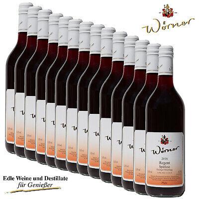 (6,66€/l) Regent Spätlese 12x0,75l Rotwein lieblich WEINGUT WÖRNER Wein
