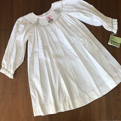 Toddler Christmas Nightgown (NWT Zuccini Ivory Toddler Corduroy Gown/Dress Embroidered Christmas)
