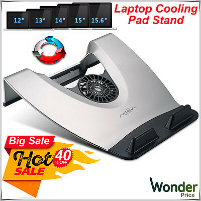 """New Laptop & Notebook Quick Cooler Cooling Fan Pad Fits 12"""" to 17"""" 4 USB Hub UK"""