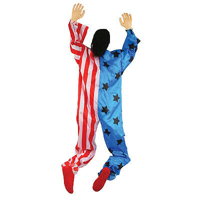 5ft Happy Halloween Creepy Climbing Clown Carnival Hanging Prop Decoration