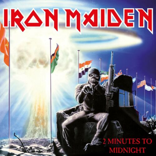 IRON MAIDEN 2 Minutes to Midnight BANNER HUGE 4X4 Ft Fabric Poster Flag Tapestry