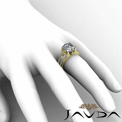 2 Row Channel Prong Setting Oval Diamond Engagement Ring GIA I Color SI1 1.62Ct 11