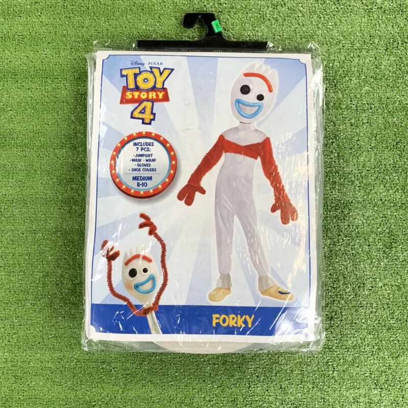 Disney Pixar Toy Story 4 Forky Halloween Costume Kids Size Medium