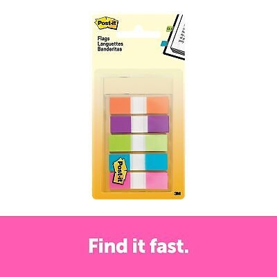 Post-it Flags .47 Wide Assorted Colors 100 Flagspack 683-5cb2 874034