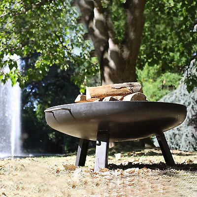 Feuerschale 80 cm Feuerkorb Grillschale Grillboden Klöpperboden Feuerstelle