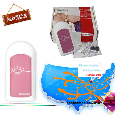 Us Shipping Fetal Doppler Unburn Baby Heart Rate Monitor Prenatal Fhr