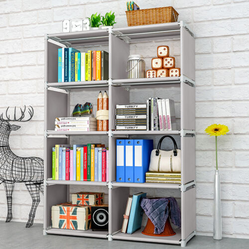 8 Cube Bookshelf Rack Bookcase Shelving Stand Storage Displa