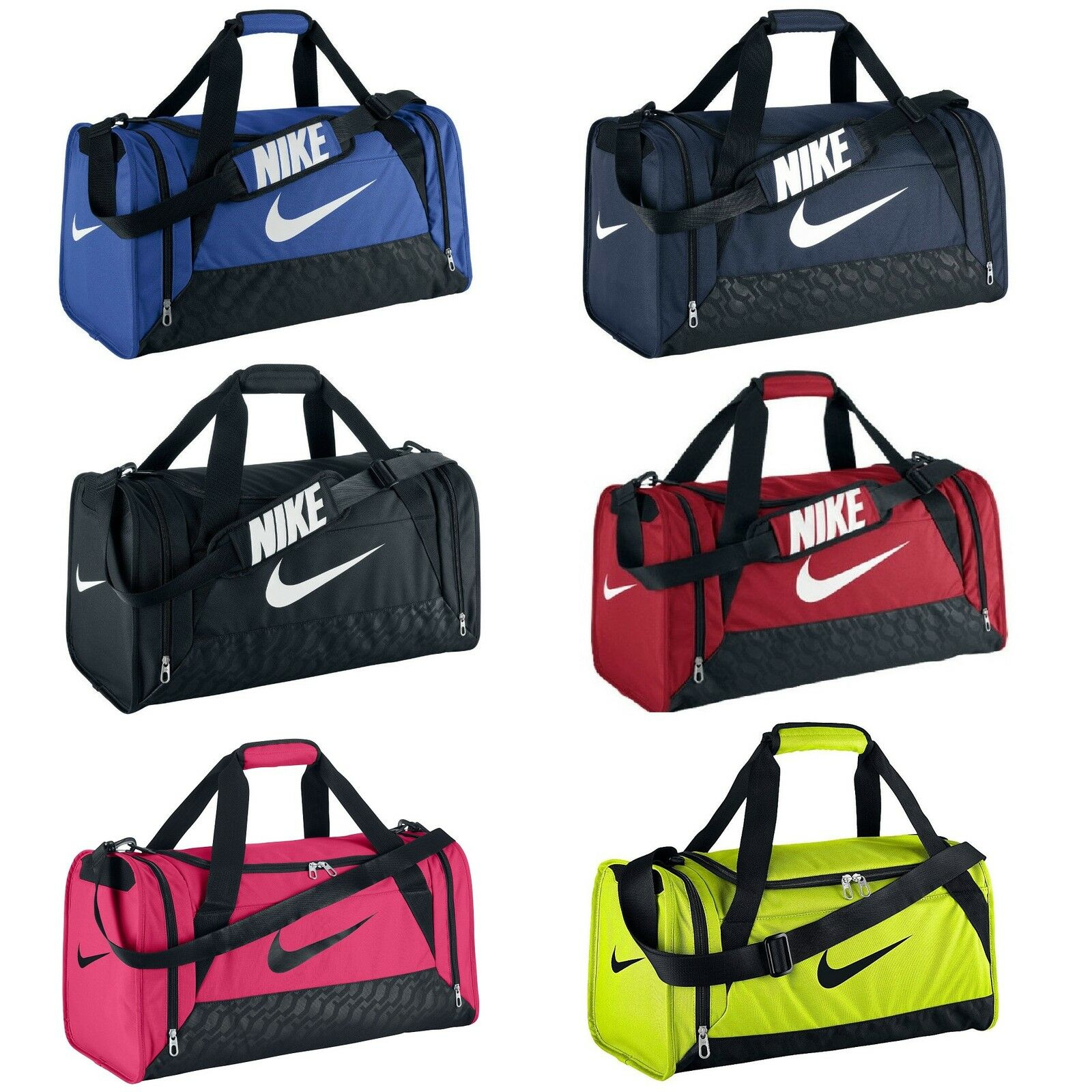 nike brasilia 6 duffle bag team training sports holdall gym travel kit ebay. Black Bedroom Furniture Sets. Home Design Ideas