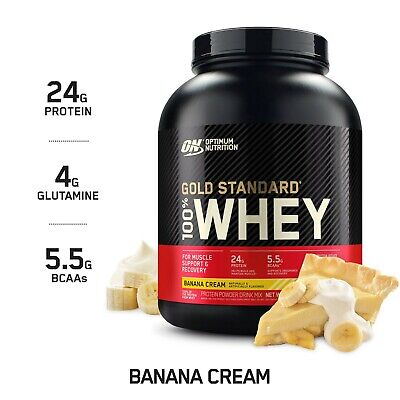 Optimum Nutrition Gold Standard 100% Whey Protein - 5 Lbs - Banana Cream