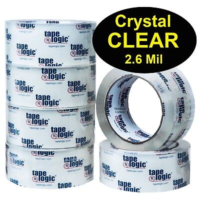 Tape Logic T901260CC Crystal Clear Acrylic Packing Tape 2.6Mil 2