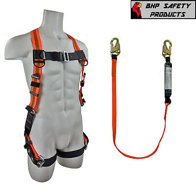 Fall Protection Safety Harnesslanyard Combo Construction Fs99185-efs88560-e