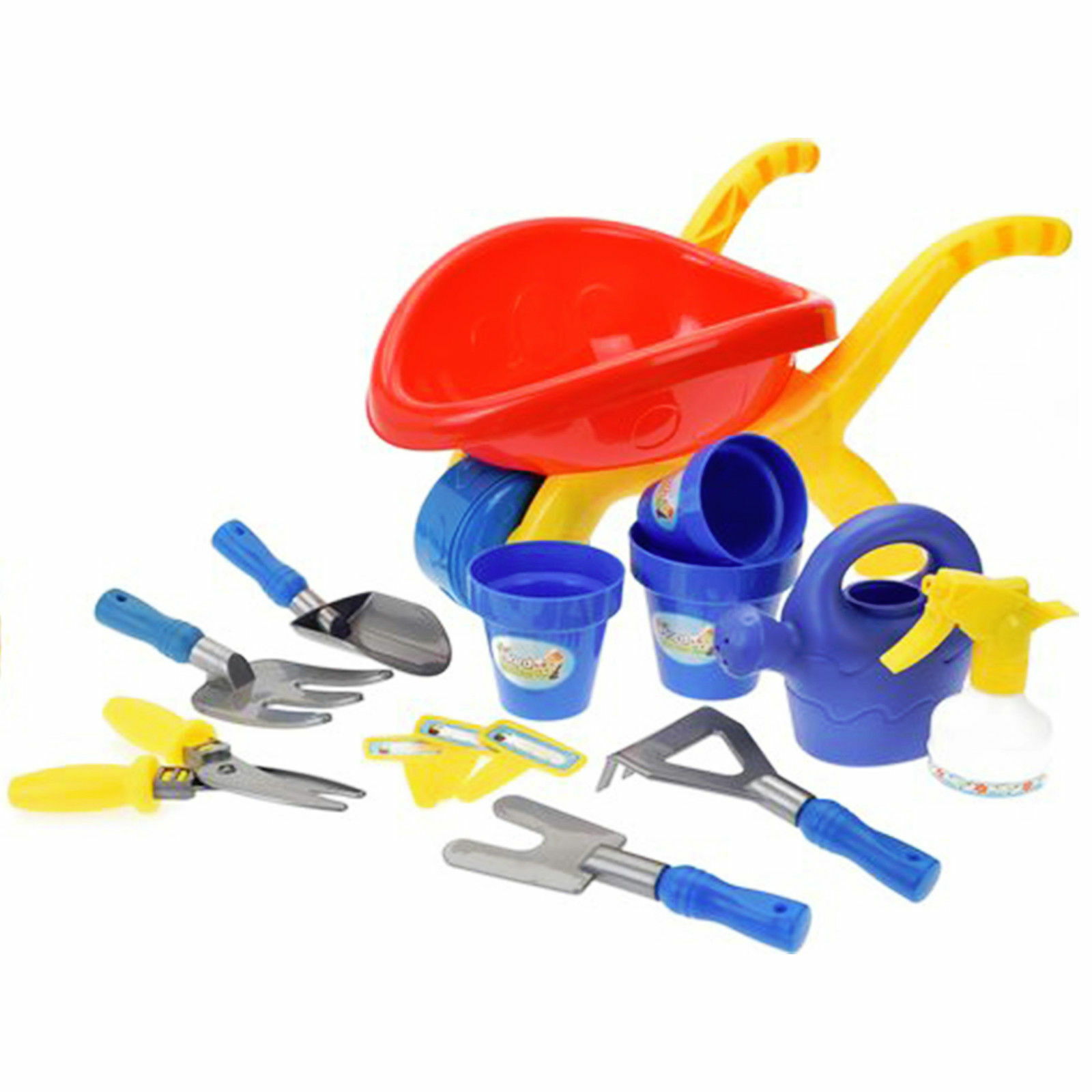 Wheelbarrow /& Garden Set Wheel Barrow Gardening Toy For Children