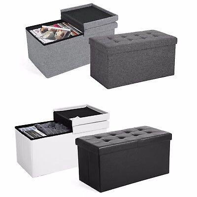 Faltbar Sitzhocker Aufbewahrungsbox Sitztruhe Sitzwürfel Truhenbank Truhen 76 cm online kaufen