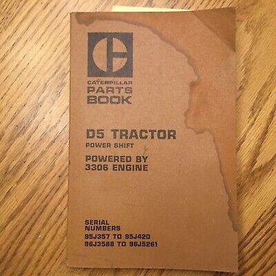 Cat Caterpillar D5 Parts Manual Book Catalog Tractor Dozer 95j-420 96j3588-5261