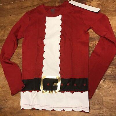 Crazy 8 Boys Santa Suit Pj Top Nwt Sz 12  - Boys Santa Suit