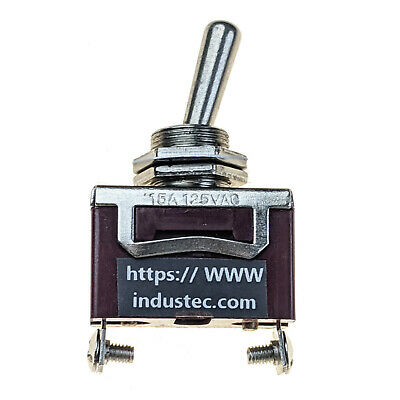 Industec Heavy Duty 15 - Amp Spst 2 Screw Pin Toggle Switch Maintained 2 Pos 12v