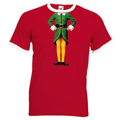 Elf Body Ringer T-Shirt - Christmas Humour Funny Buddy Festive Gift Mens Top - Humor Ringer