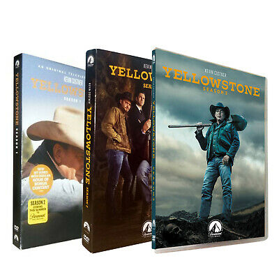 Yellowstone Season 1 & 2 & 3 1 2 3 (DVD ,12-Disc) Free shipping