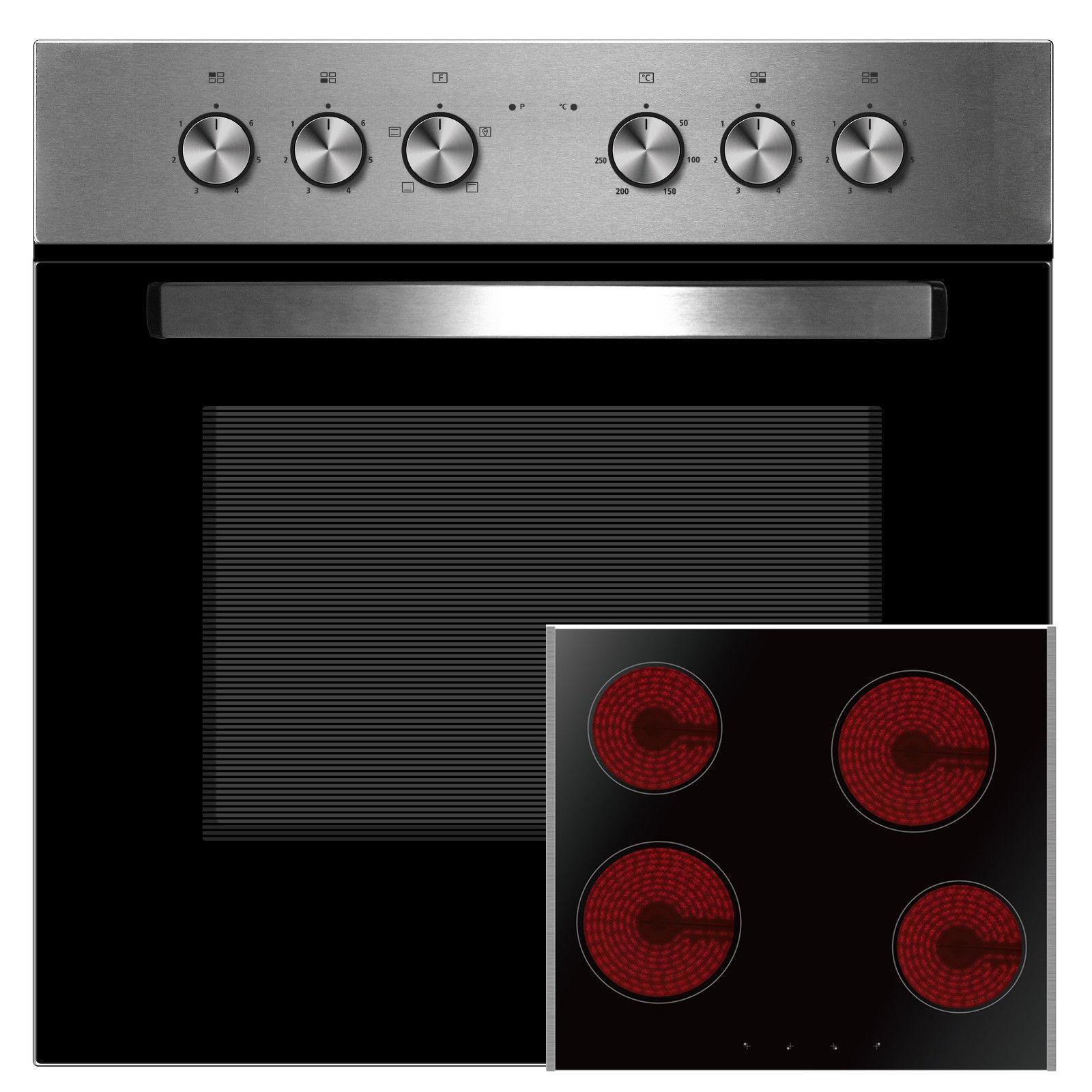 PKM einbauherdset piano di cottura in vetro ceramica forni completo Ofen