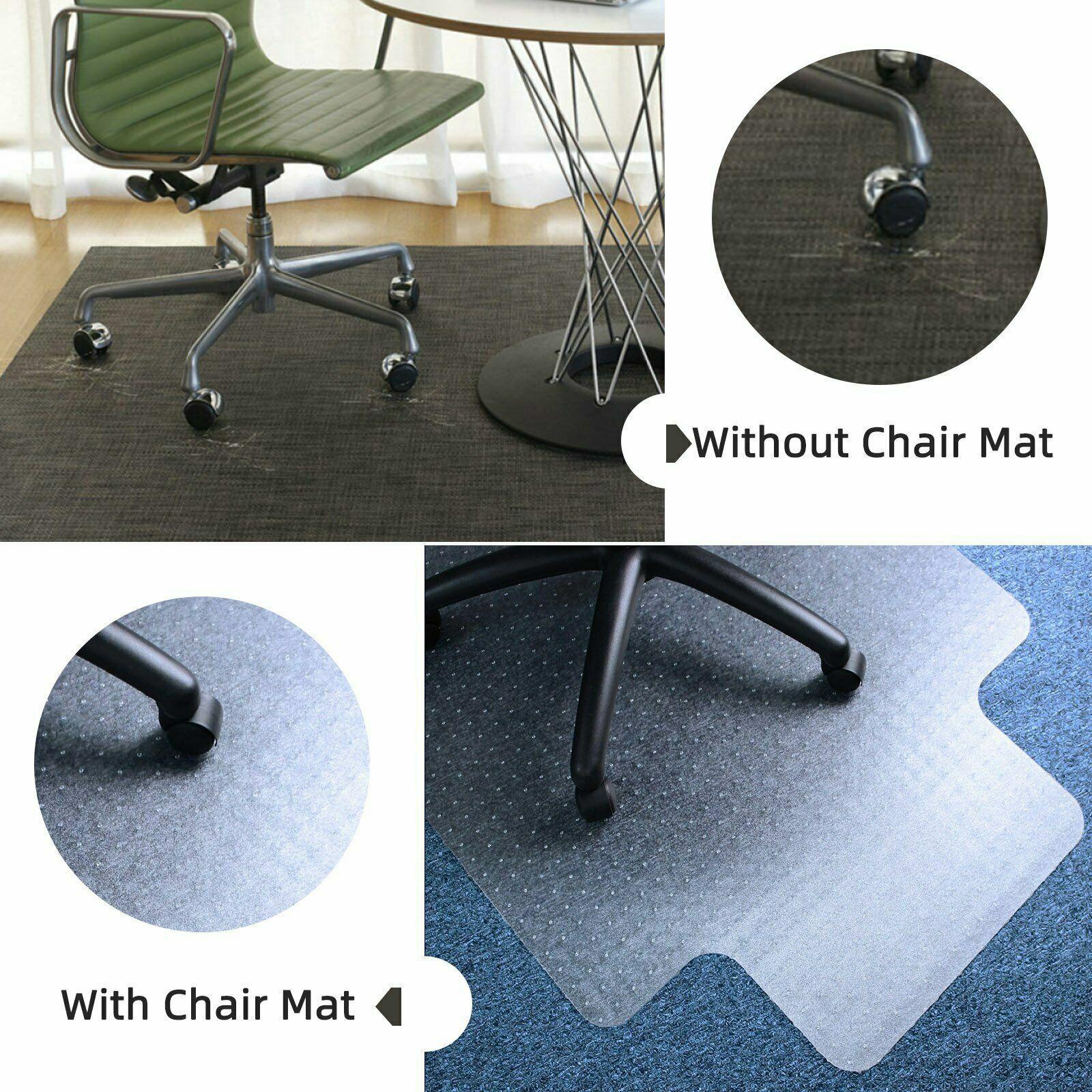 Mat PVC Home Office Carpet Hard Protector Desk Floor Chair Tranparent With Nail Door Mats & Floor Mats
