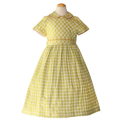 Luli & Me Girls Checked Dress Size 6X EEUC