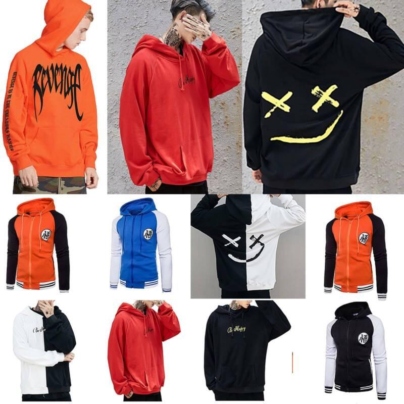 Men Hoodie Sweater Hip-hop Skateboard Sweatshirt Pullover Ca