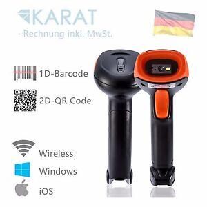 Wireless Kabellos Laser 1d 2d QR Barcode Scanner USB Empfänger Handscanner 1525