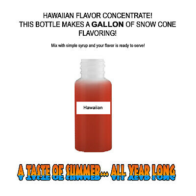 Hawaiian Mix Snow Coneshaved Ice Flavor Concentrate Makes 1 Gallon