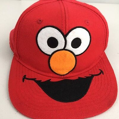 Elmo Hat (ELMO Sesame Sreet Adults Red Hat/Cap Adjustable Back Snap Acrylic/Wool)