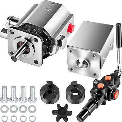 Vevor 2-stage Log Splitter Pump Kit 11 Gpm Hydraulic Gear Pump 34 W A7 Valve