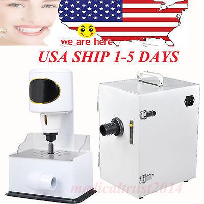 Dental Lab Dust Collector Vacuum Cleaner 370w Model Arch Trimmer Inner Grinder