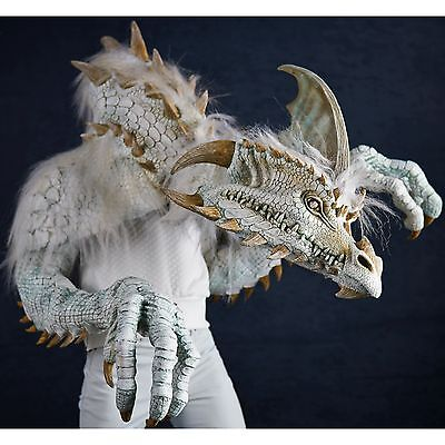 *SALE* ICE DRAGON Halloween Mask Costume Dinosaur Daenerys Witch Cinder - Sale Costumes Halloween