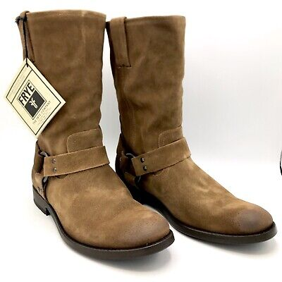 Frye Jackson Harness Suede Men's Brown boots New in Box