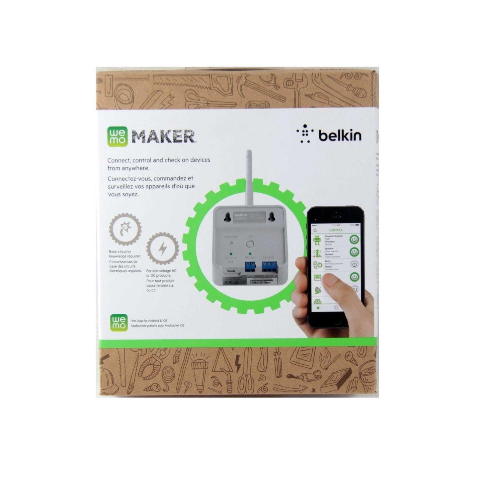 belkin wemo maker home automation wifi enabling appliance modulebelkin wemo maker home automation wifi enabling appliance module ifttt f7c043au for sale online ebay