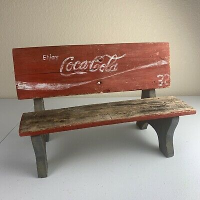 Coca Cola Vintage Wooden Bench