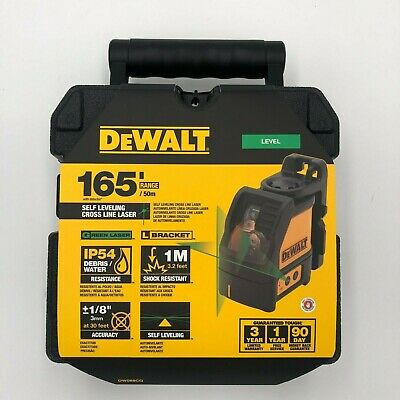 DeWalt DW088CG Green Cross Line Laser w Bracket New in the Box 2 DAY SHIPPING
