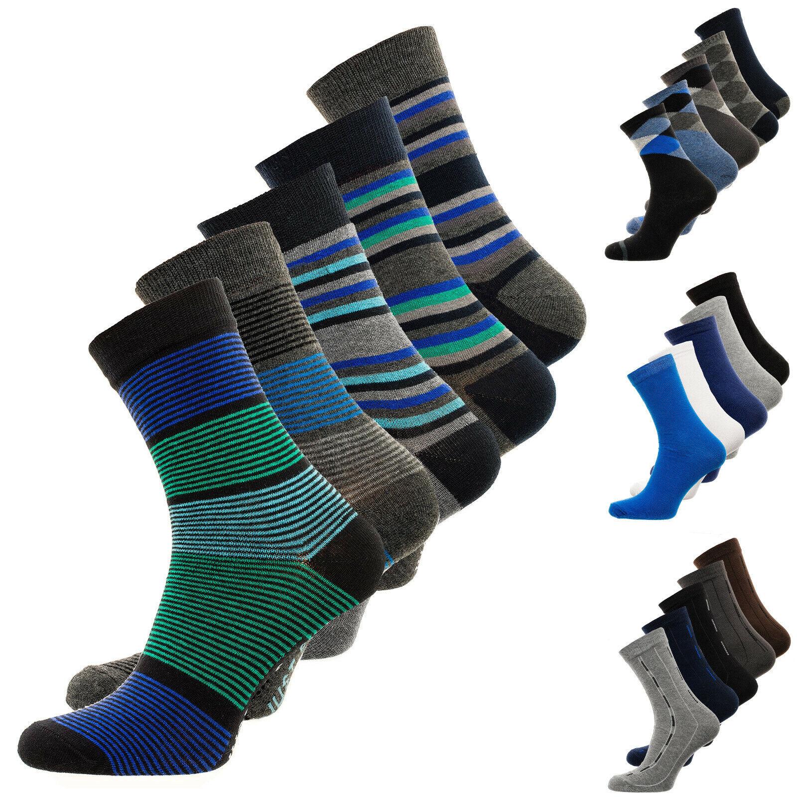 Baumwollmischung, 3 Paar Herren Socken Größe 39-42 Schwarz
