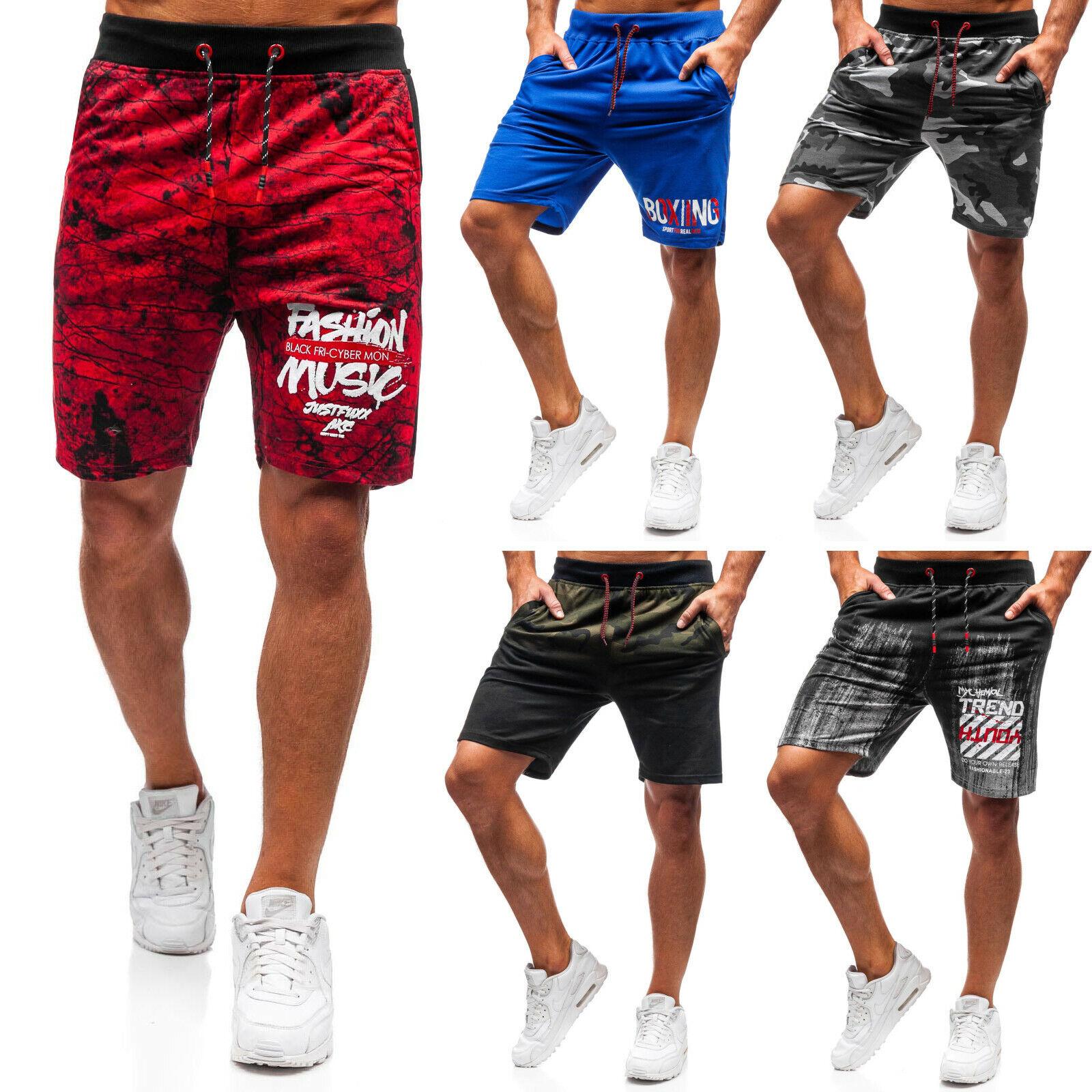 Shorts Kurzhose Trainings Sporthose Bermudas Sport Herren Mix BOLF 7G7 Camo WOW