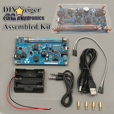 Assembled Diy Geiger Counter Kit Nuclear Radiation Detector Beta Gamma Ray A3gs