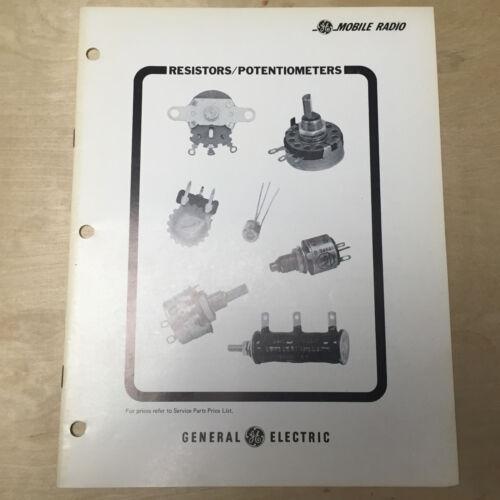 Vtg General Electric Catalog ~ GE Resistors/Potentiometers Mobile Radio 1976