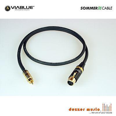 3m Adapterkabel CARBOKAB VIABLUE Sommer Cable XLR female Cinch..High End PREMIUM