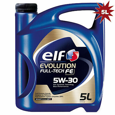 Elf Evolution Full-Tech FE 5W-30 Car Motor Engine Oil - 5 Litre