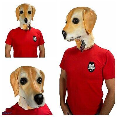 Golden Labrador Máscara Látex Animal Perro Máscaras Disfraz Accesorio Canino Lab