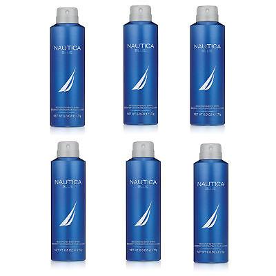- Nautica Blue Cologne Deodorant Spray for Men 6.0oz (Lot of 6)