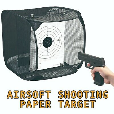 Paper Target with collapsible mesh net for Airsoft shooting