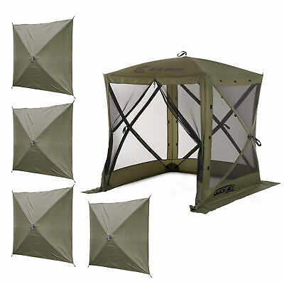 Clam Quick-Set Traveler Outdoor Screen Shelter w/Wind Panels (4 Pack), Green